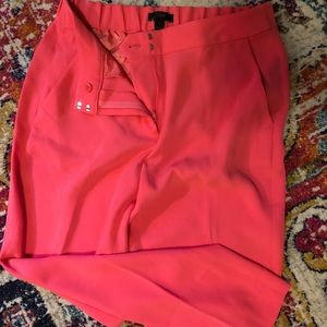 NWT JCrew Easy Pant in coral matte crepe